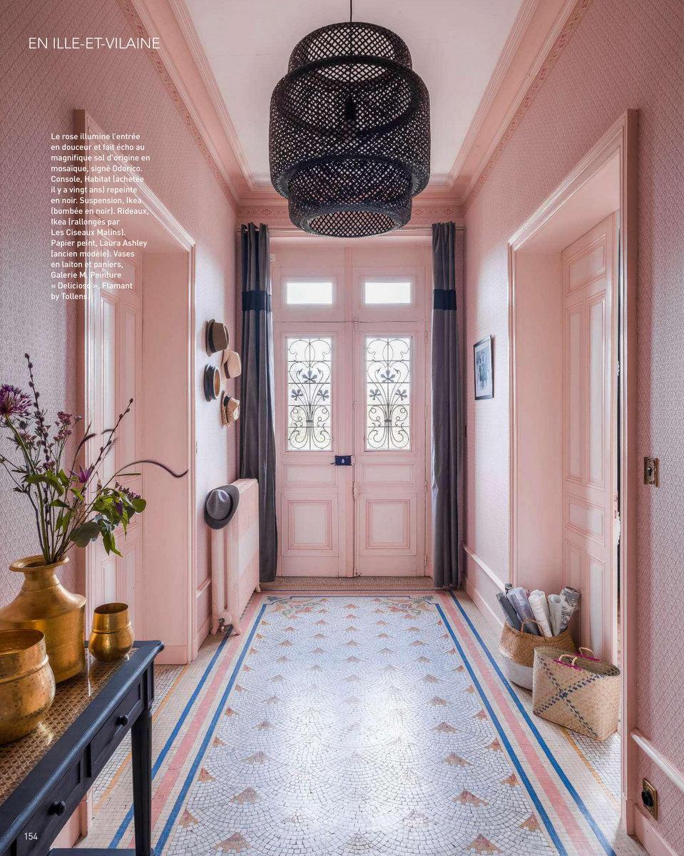 Art & Décoration - mai 2018 - une maison des années 1920 près de Rennes #magazine #magazinedeco #revuedepresse #decoration #artetdecoration
