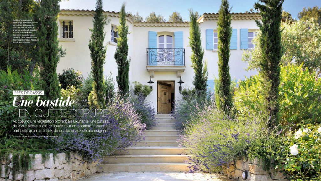 Art & Décoration - mai 2018 - une bastide à Cassis #magazine #magazinedeco #revuedepresse #decoration #artetdecoration