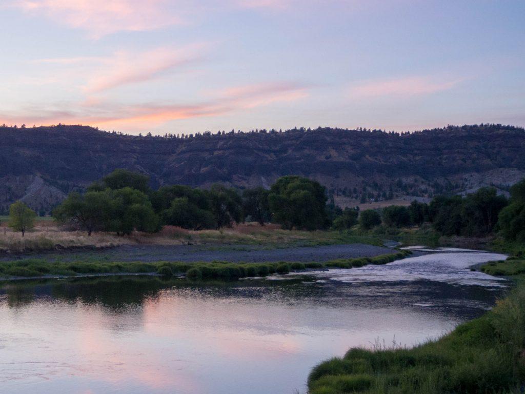 Carnet d'Amérique - Oregon - Coucher de soleil sur la John Day River