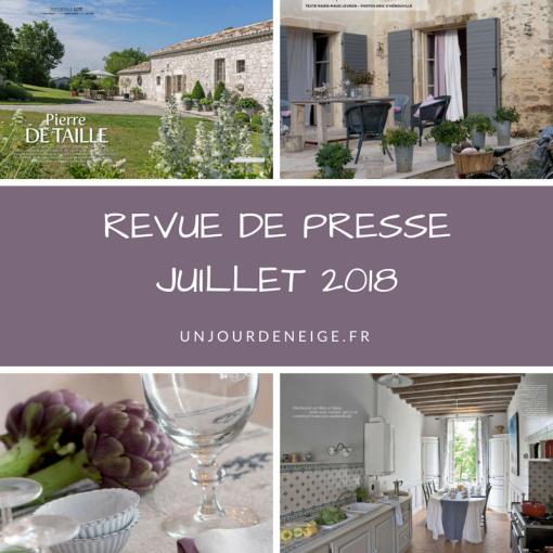 Un Jour de Neige - Revue de presse déco - Juillet 2018