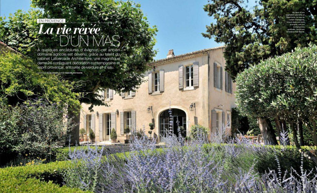 Art & Décoration - juillet-août 2018 - un mas près d'Avignon - Un Jour de Neige