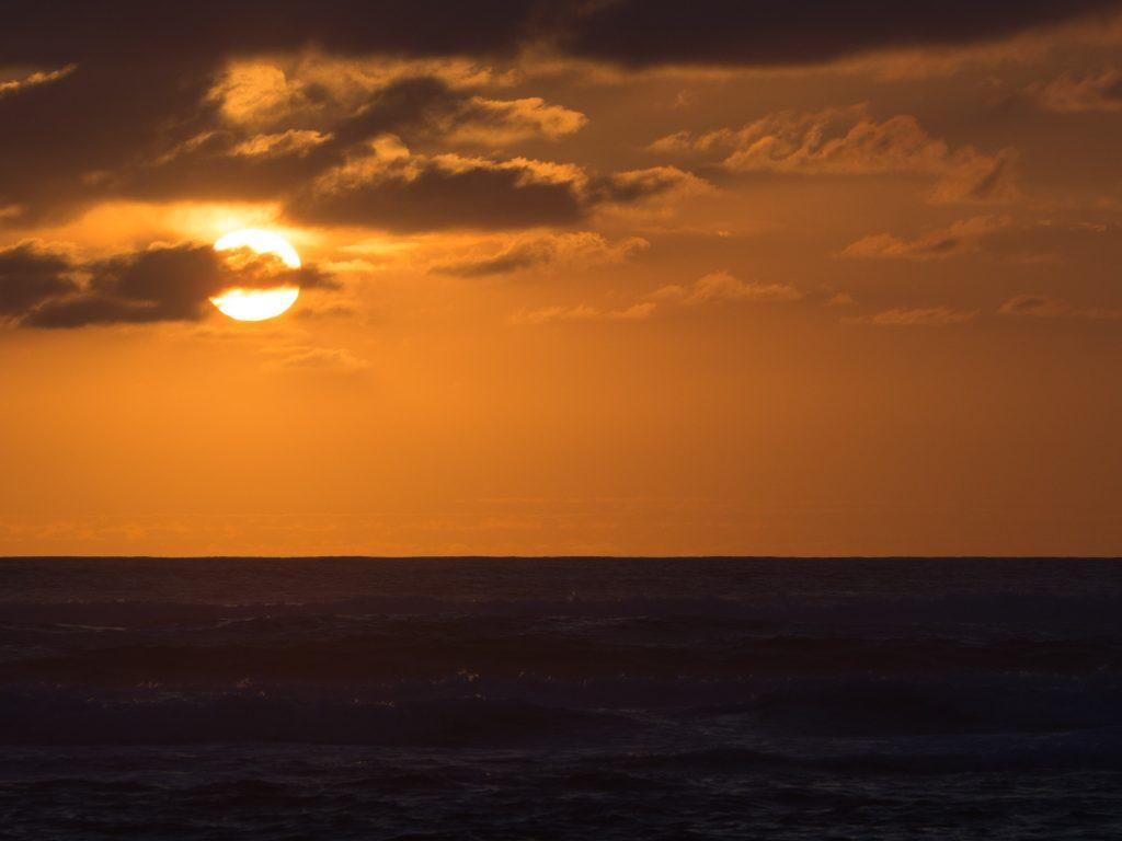 Défis photo en vacances - coucher de soleil sur l'océan