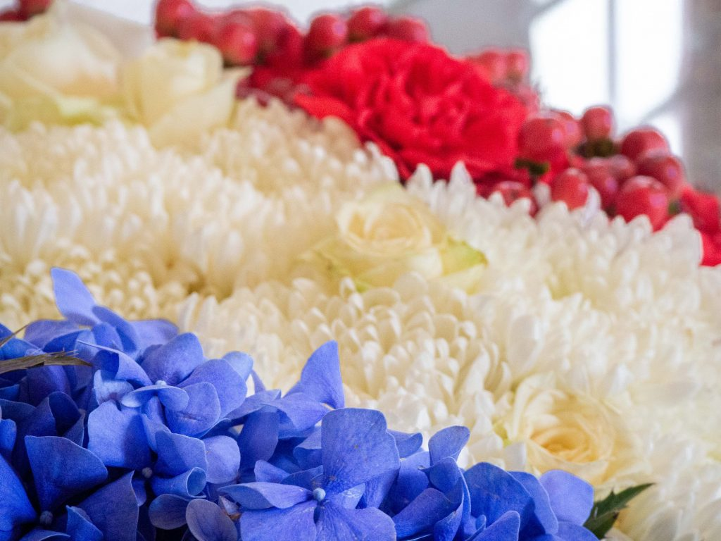 Bouquet de fleurs au château de Chenonceau - Un Jour de Neige