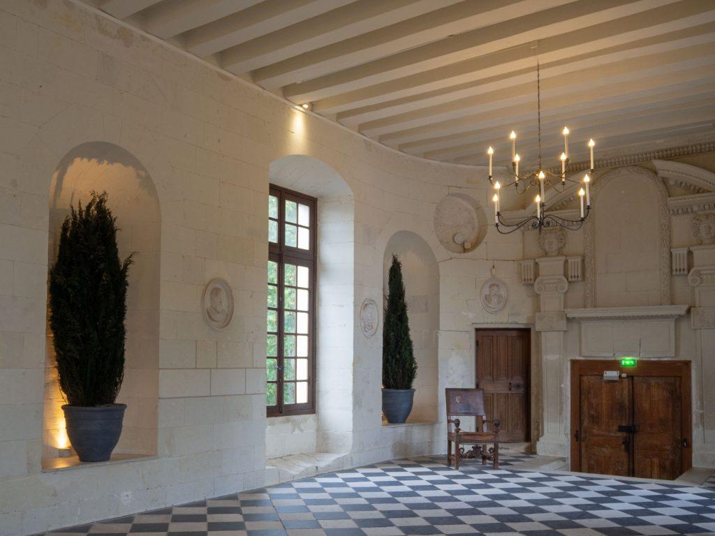 Château de Chenonceau - galerie du rez-de-chaussée - Un Jour de Neige