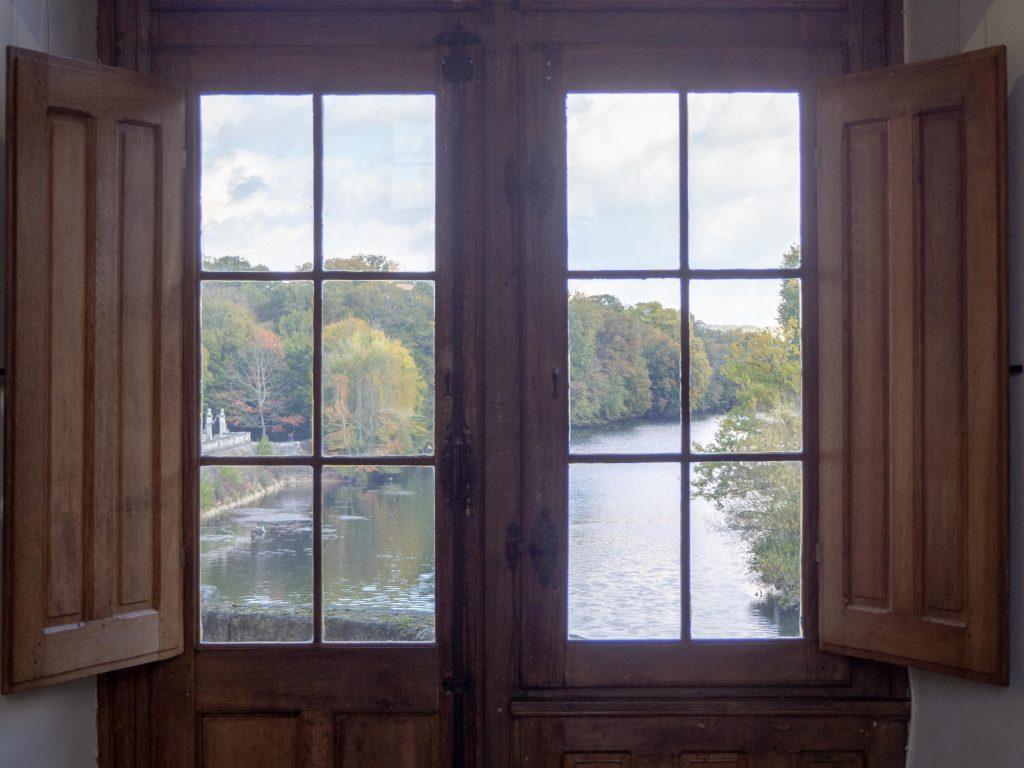 Château de Chenonceau - vue sur le Cher - Un Jour de Neige