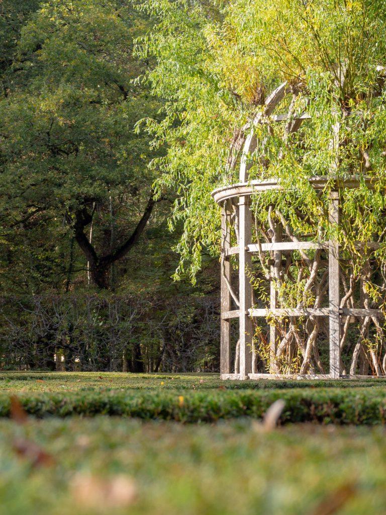 Château de Chenonceau - le labyrinthe - Un Jour de Neige