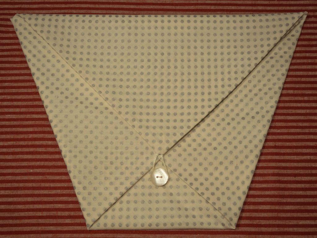 Pochette origami en tissu - Un Jour de Neige