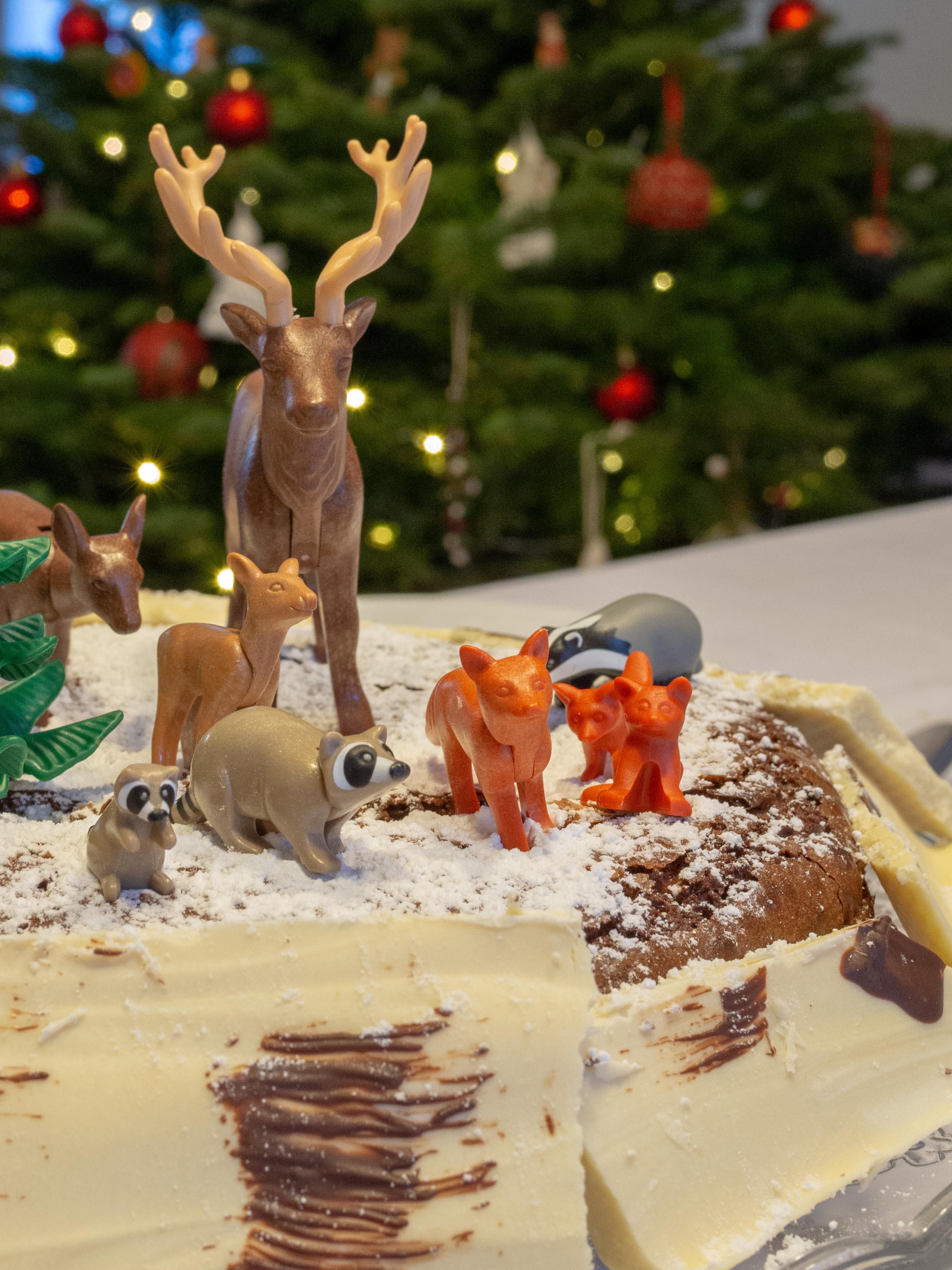 Gâteau au chocolat de Noël - Un Jour de Neige