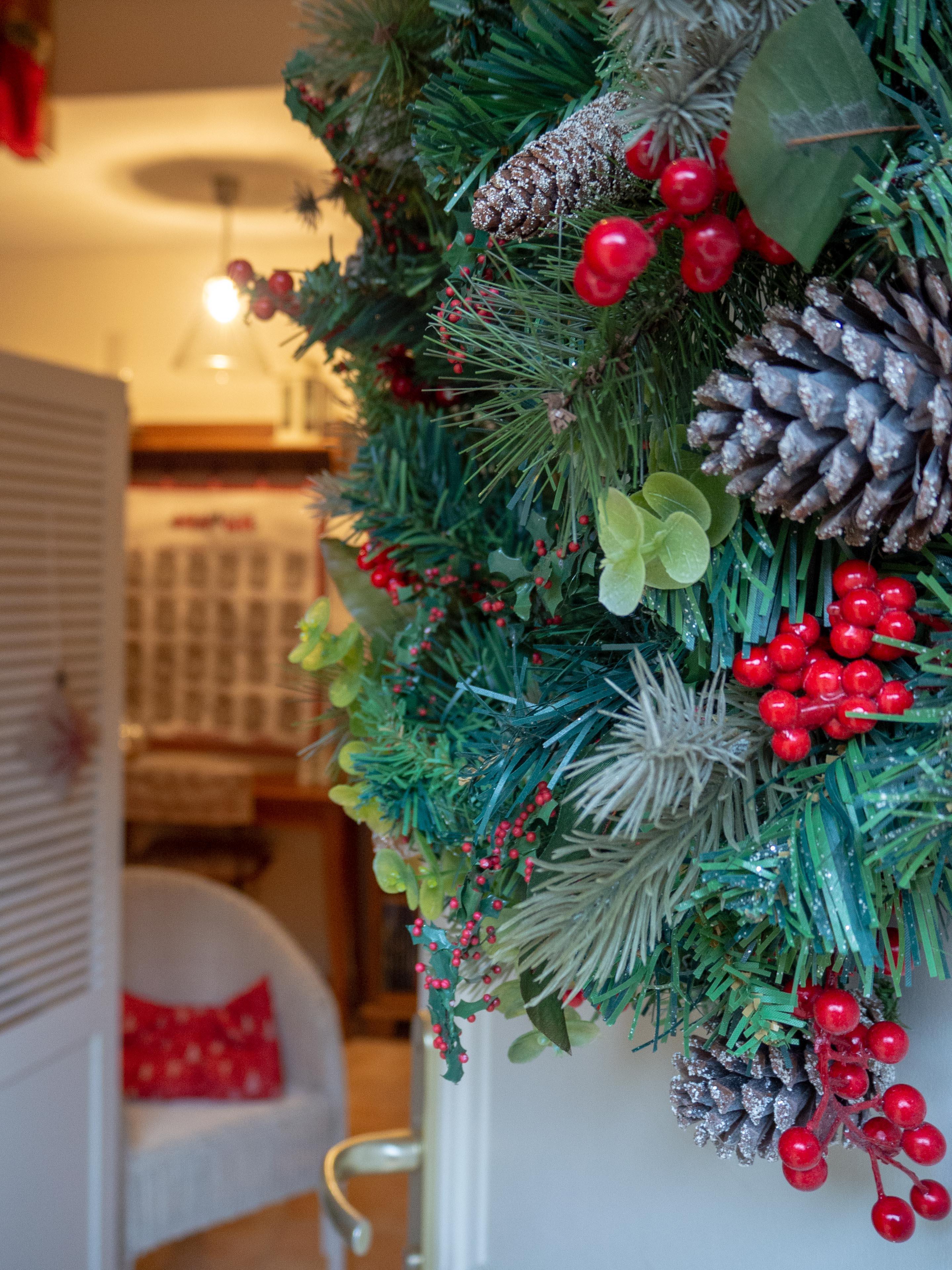 Déco de Noël - l'entrée - Un Jour de Neige